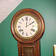 Interesting Japanese Schoolhouse Regulator Style Striking Clock