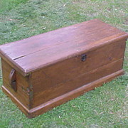 Late 1700's Maritime Officers Chest - Original Paint & Working Order