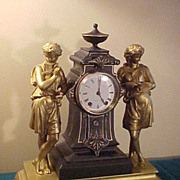 "Nice Antique Seth Thomas ""Music & Art"" Double Figural Clock"