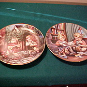 Two Excellent Hummel Collector Plates by Danbury Mint
