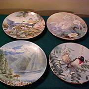 Four Nice WL George Collector Plates- Excellent Condition & Value