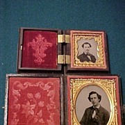 Two Nice Gentleman Cased Photographs-1 Tintype and 1 Ambrotype