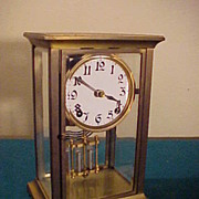 Nice Antique Ansonia 8-Day Chiming Crystal Regulator Clock