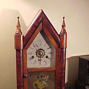 Excellent Original Gilbert Cathedral Style 8-Day w/Alarm Clock