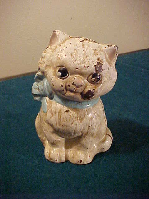 Adorable Little Kitten Cast Iron Bank-Guaranteed of Age