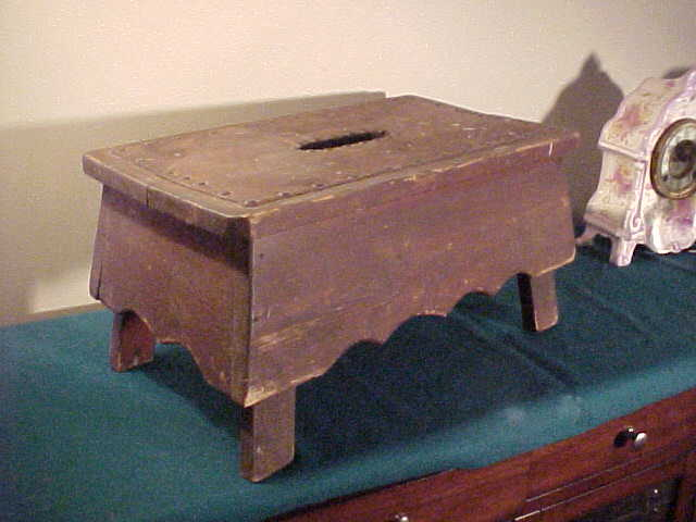 Neat Scroll Cut Early Foot / Work Stool- Very Sturdy & Good Size