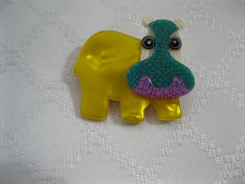 Hippo Pin By French Designer Lea Stein
