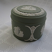 Wedgwood Jasperware Green Covered Trinket Box