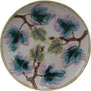 "Etruscan Majolica 9"" Maple Leaves Plate"