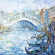 """Venice - city of Love"" impressionism oil painting of George Velezhev."