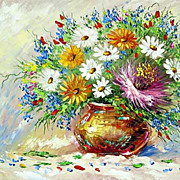 """Multicolor bouquet"" oil painting of Anuch Amerijn."