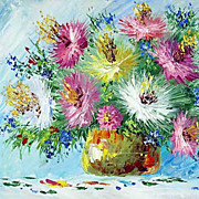 """Bouquet of asters"" oil painting of Anuch Amerijn."