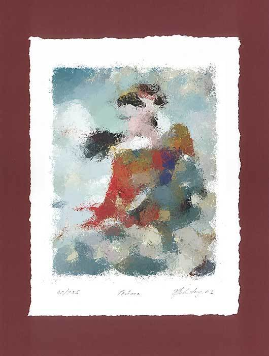 &quot;Geisha&quot; - limited edition colour lithography s/n.