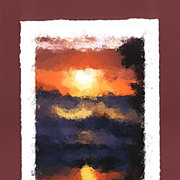 """Daybreak at the Sea"" - limited edition, colour lithography s/n."