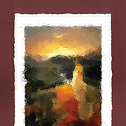 """Italian Sunset"" -  limited edition colour lithography s/n."