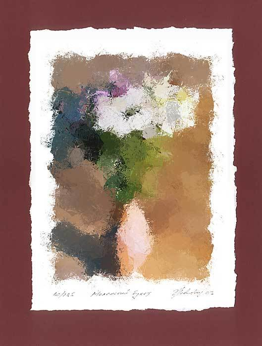 """Small Bouquet"" -  limited edition colour lithography s/n."