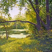"""Old Pond"" oil painting of D.Levin - Russian traditional school of realistic paintin"