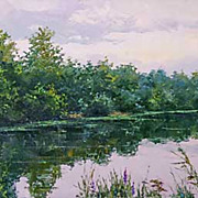 """Peace and Quiet�"" oil painting of D.Levin - Russian traditional school of realistic"