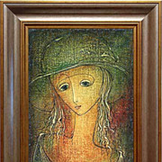 "REDUCED ""Romantic Girl"" of Omar Chkhaidze - original painting"