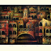 """Old Tbilisi"" of Chkhaidze Omar - L.E. lithography s/n"