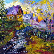 """Purple Evening "" impressionism oil painting of George Velezhev."