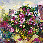 """Roses at my window"" impressionism oil painting of George Velezhev."