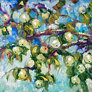 """Apples in the Sky"" impressionism oil painting of George Velezhev."