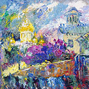 """Old Moscow"" impressionism oil painting of George Velezhev."