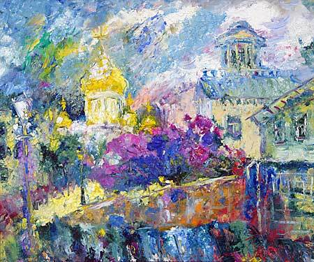 &quot;Old Moscow&quot; impressionism oil painting of George Velezhev.