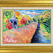 "REDUCED ""Hyde Park"" of French artist Cleo - original painting in impressionism style"