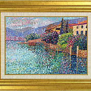 "REDUCED ""Italian Side"" of French artist F. Mathieu  - original painting in pointilli"