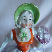 REDUCED LOVELY 5&quot; German Dresser Doll with Luster Detailing