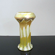 Early L.C. Tiffany Favrile Vase - Swirl on Stripe