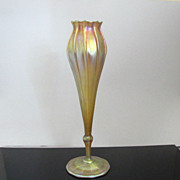 Large L.C. Tiffany Gold Favrile Floriform Vase