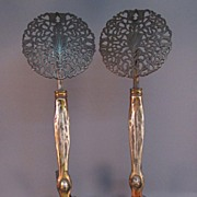 Gilt Bronze Andirons - Art Nouveau, French-Style