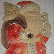 SALE SALE Large Standing Santa with a Bell Nostalgic Christmas Embossed die-cut ~ 1930's Excel