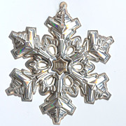 SALE Gorham Sterling Silver with Gold Filled 1985 Year mark Snowflake Ornament/Medallion