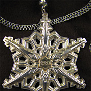 SALE Gorham Sterling Silver with Gold Filled 1983 Year mark Snowflake Ornament/Medallion