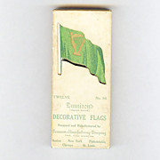 SALE Dennison Saint Patrick�s Day decorative Cut outs for ices, cakes puddings Irish Flag 1920
