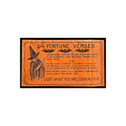 SALE �Envelope with 24 Fortune verses� USA Whitney Company 1920s Rare