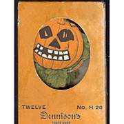 SALE Dennison Halloween decorative Cut outs for ices, cakes puddings Scary Jack O' Lantern Pum