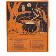 SALE Vintage Beistle Halloween Fortunes Game Excellent USA 1940s