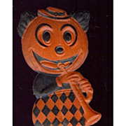 SALE German Die cut � small �Mickey Mouse� Jack O� Lantern with horn Band Member 1920's