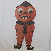 SALE Large Jack O� Lantern Clown heavily embossed die cut � Germany 1920s