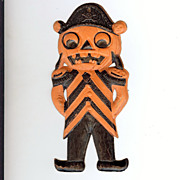 SALE German Die cut � small Pirate Man Jack O' Lantern 1920's excellent!