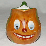 SALE Child size Halloween China tiny Creamer for Pumpkin tea set!