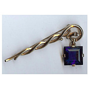 SALE Trifari 'Alfred Philippe' Sapphire Pendant from Staff Pin
