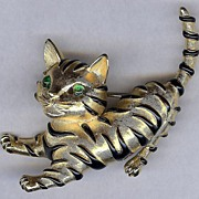 SALE TRIFARI TM Ark Series Figural Cat Tiger cub brooch