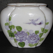 Consolidated Con Cora Pillow Vase with Lavender decoration