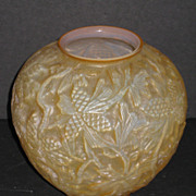 Consolidated Pinecone Vase  Honey Cased